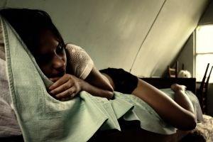 Azerbaijan girl sleeps