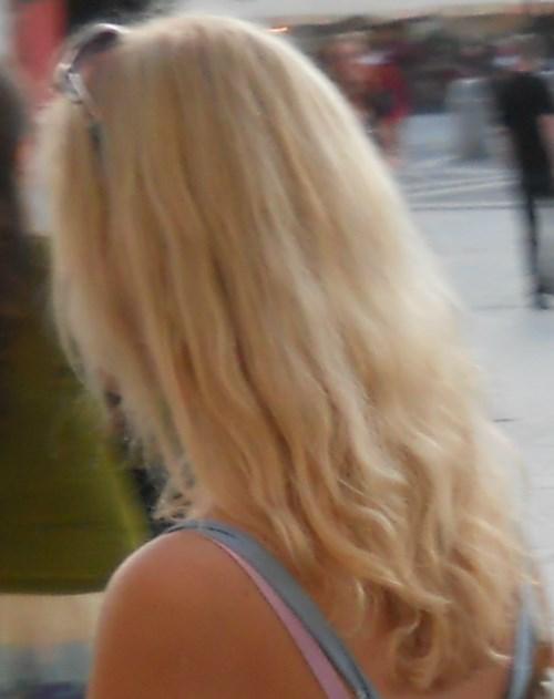 Russian bleach blonde