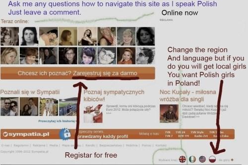 Polish online dating start page