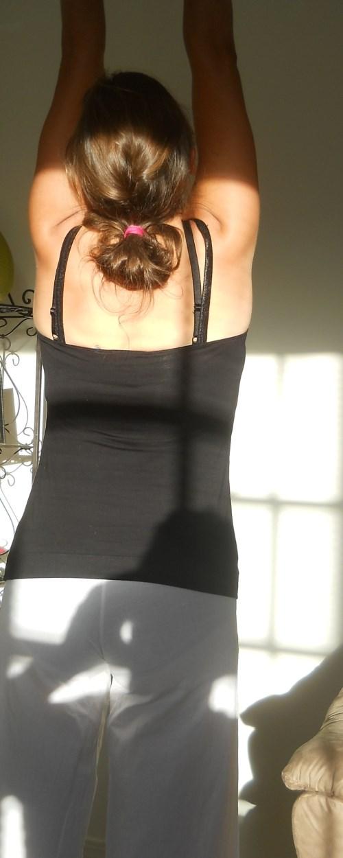 female stretching  yoga leggings
