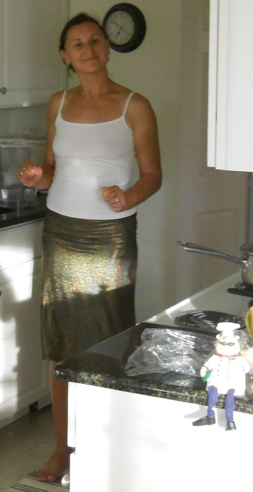 beautiful wife in kitchen