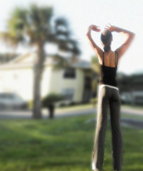 yoga girl long legs pants