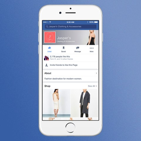 Facebook will soon let you shop on your favorite retailers' Pages