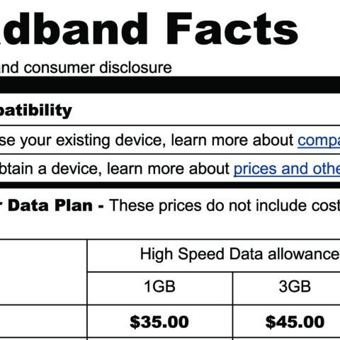 New broadband service labels borrow from food industry