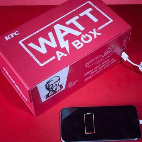 This KFC meal box charges your cell phone while you eat