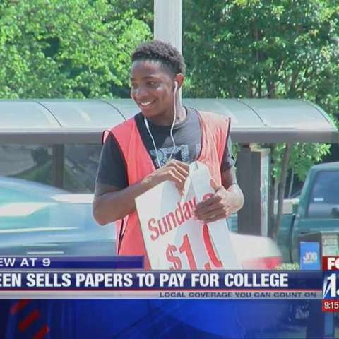 Teen accomplishes dream, earns enough money to pay for college