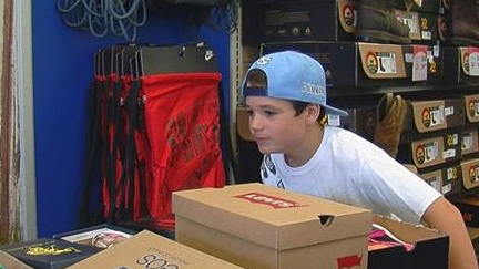 10-year-old gives away 600 pairs of shoes to kids who can't afford them