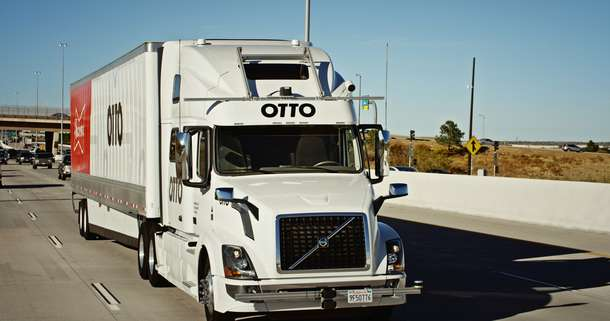 Self-driving truck makes 120-mile trek, delivers beer