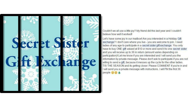 Warning: Christmas gift exchange scam making the rounds on Facebook