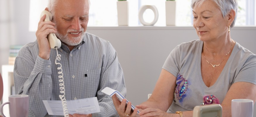 Sharing a bank account with an elderly parent can be risky