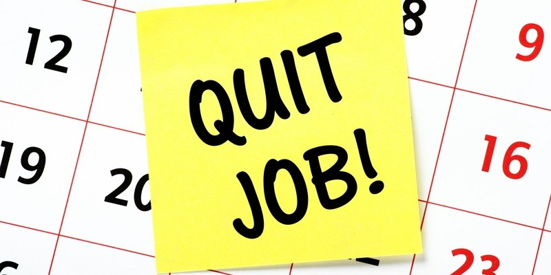 How much notice should you give when quitting a job?