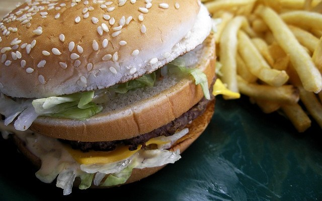 This chart shows the actual cost of McDonald's menu items