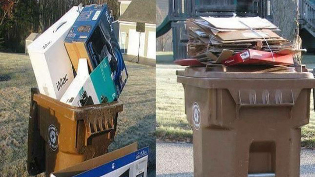 Empty Christmas boxes could tip off thieves to expensive gifts