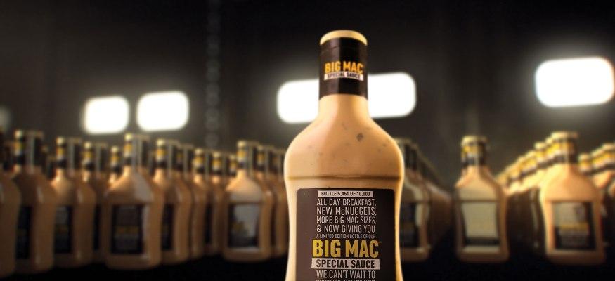 McDonald's is giving away bottles of its Big Mac sauce
