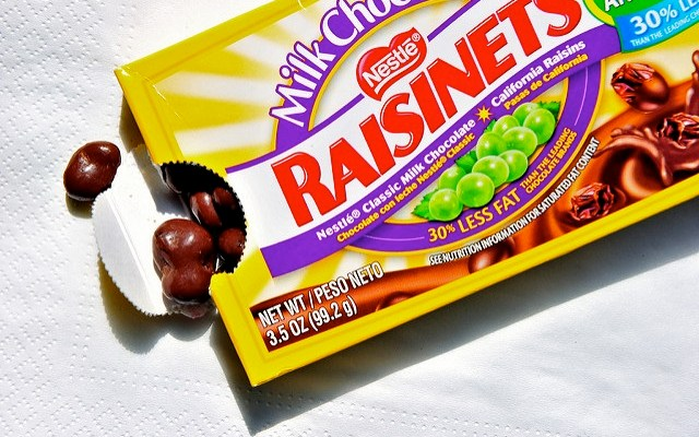 How full is this box of Nestle Raisinets? Here's what a new lawsuit claims