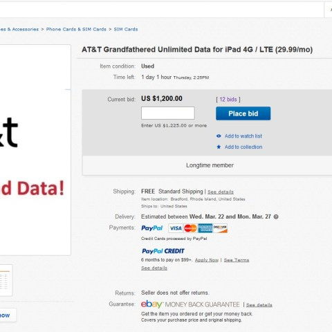 AT&T's legacy unlimited plans sell for $1,000 – $3,000 on eBay!