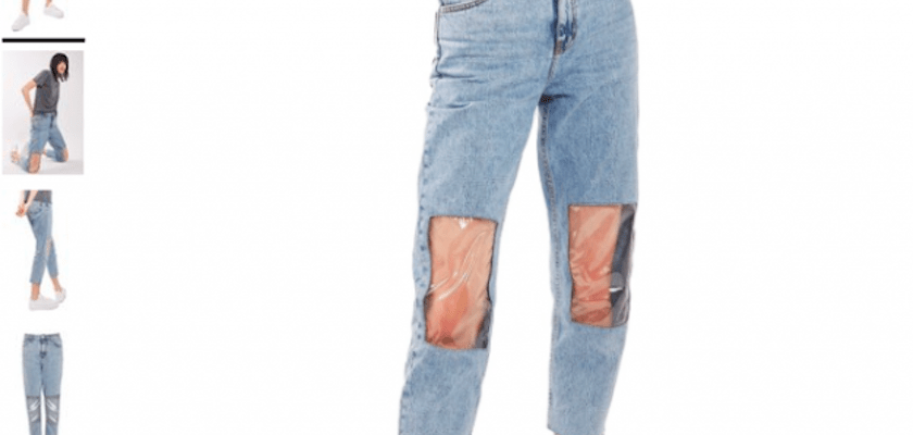 Nordstrom's $95 'Clear Knee Mom Jeans' have gone viral… and with good reason