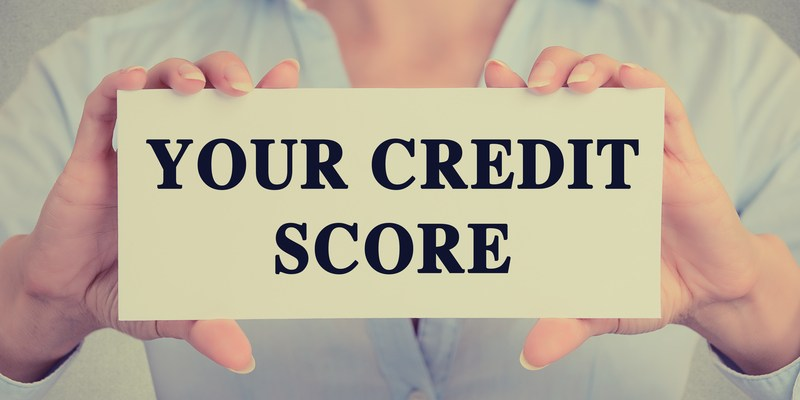 Credit score sign