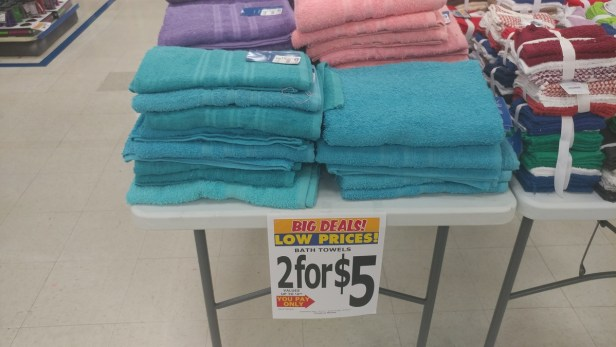 Bath towel 2 for $5 at Roses
