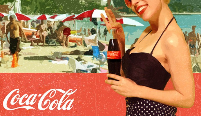 Coca Cola at the beach
