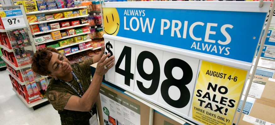 Walmart associate changing price