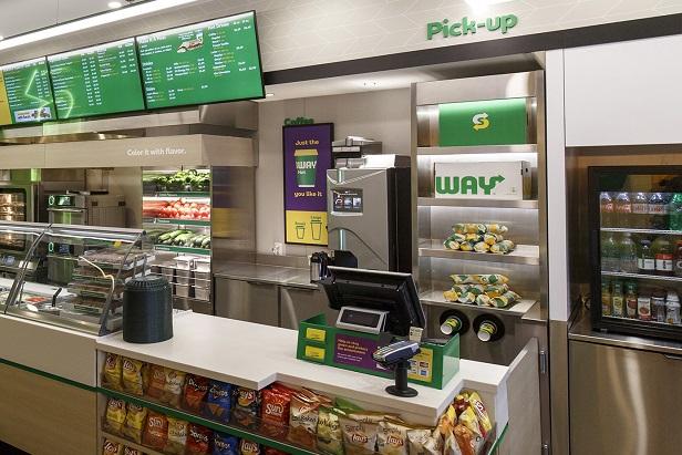 Subway pick-up area