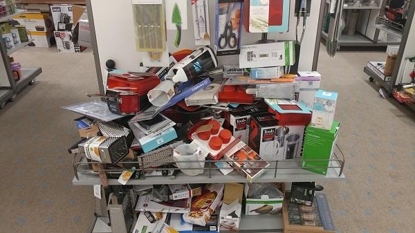 Macy's Backstage messy rack
