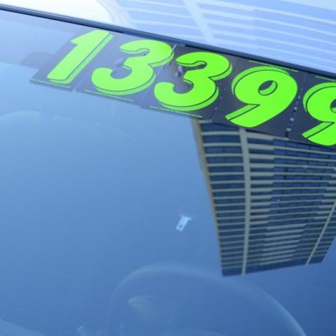 Used car sticker price
