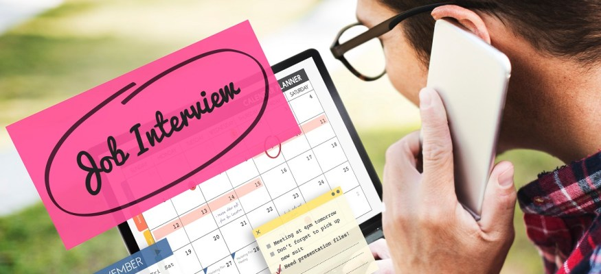 job interview in calendar