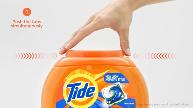 Tide laundry pac new lid for tub