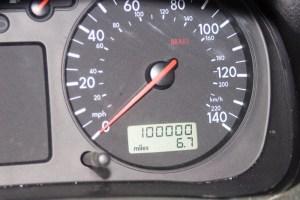 100,000 mile odometer