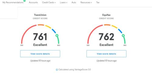 Credit Karma credit scores for TransUnion and Experian