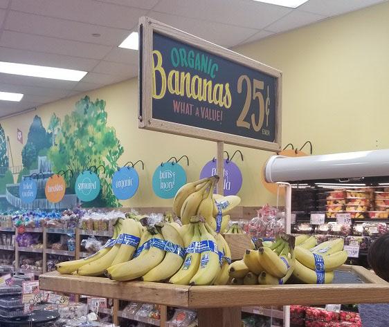 Organic bananas down to 25 cents Trader Joe's