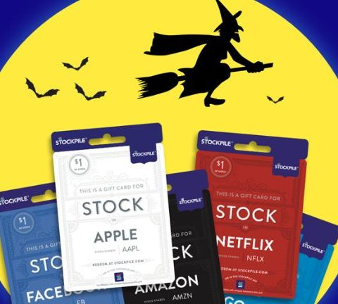 Stockpile Halloween $1 stock gift card