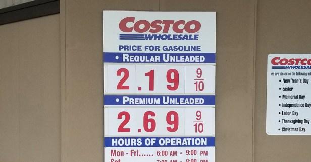 Costco $2.19 gas