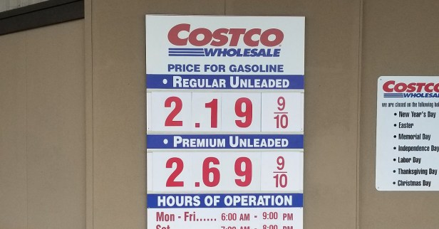 Costco $2.19 gas
