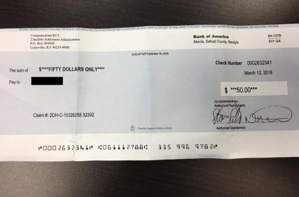 23andMe settlement check