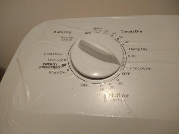 damp dry setting on washing machine