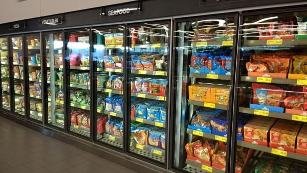 Frozen foods at Aldi