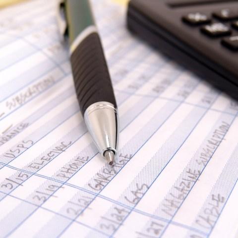 Account ledger checkbook