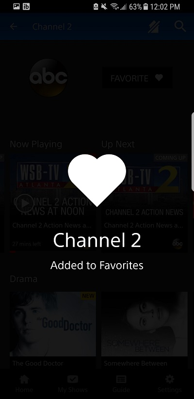 Add favorite channels with PlayStation Vue
