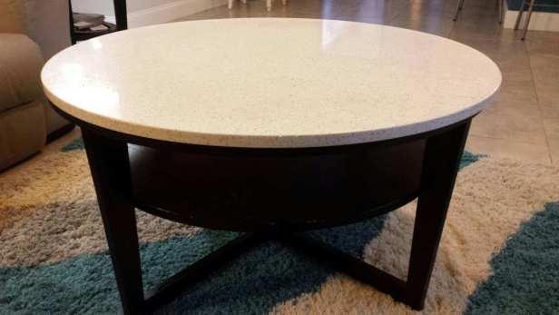 Ikea's Vejmon coffee table with custom top