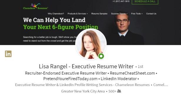 LinkedIn profile photo and background photo