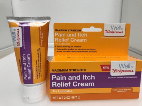 well at walgreens pain and itch relief cream