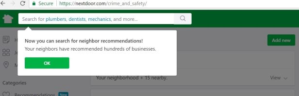 Nextdoor.com Documents section