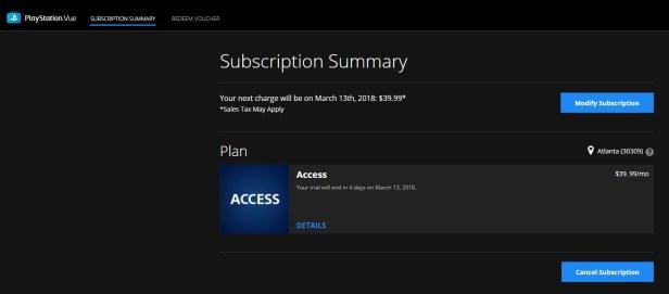 "Click ""Cancel subscription"" below your plan"