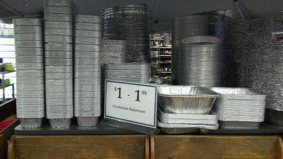 $1 aluminum bakeware