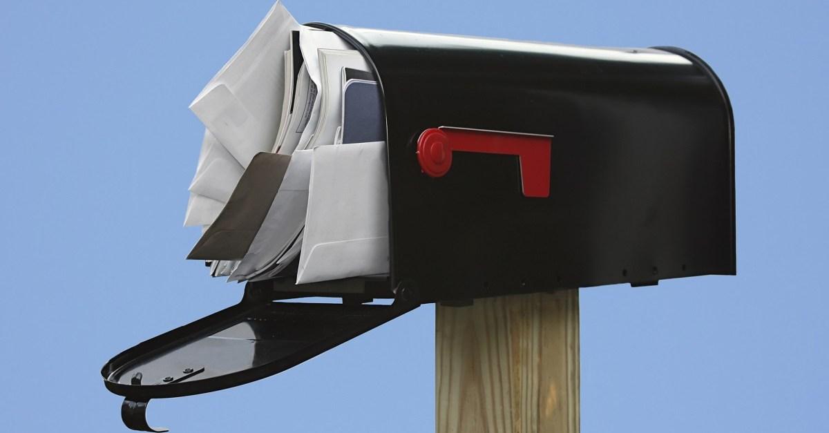 mailbox junk mail