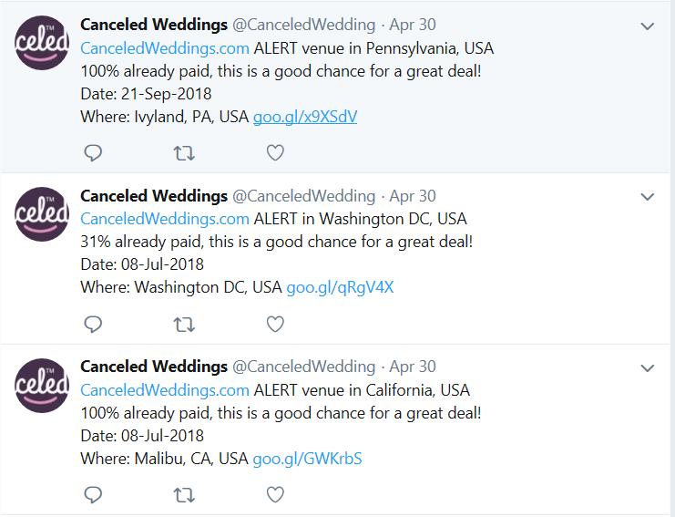 canceled weddings
