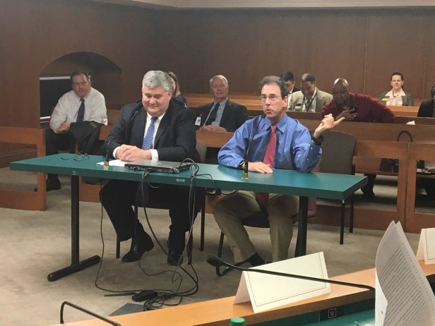 Clark Howard testifying before a Georgia State Senate committee on the Equifax data breach